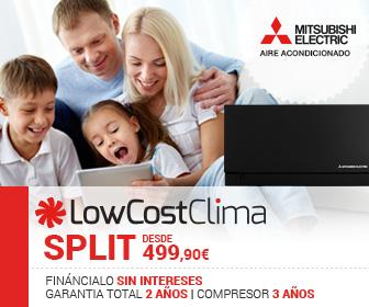 Aires acondicionados Mitsubishi Electric al mejor precio en LowCostClima.es